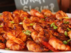 Bacon-Wrapped Chili Shrimp recipe from Ree Drummond via Food Network