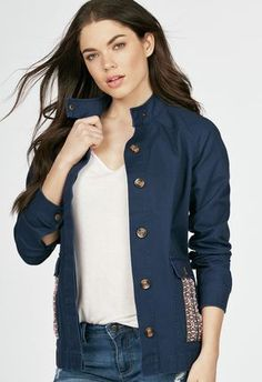 c3ddb63e05 Classic Utility Jacket in Dark Olive - Get great deals at JustFab Utility  Jacket