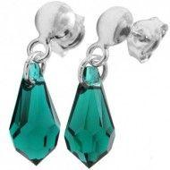 Cercei cu cristale swarovski verzi Drop p 13 FrePin http://www.bijuteriifrumoase.ro/cumpara/cercei-cu-cristale-swarovski-verzi-drop-p-13-frepin-1245
