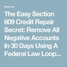 Redit dispute letter template letter templates credit for Section 609 credit repair