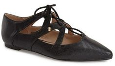 Topshop 'Fickle' Pointy Toe Ghillie Flat (Women)