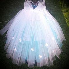 Ice queen inspired tutu dress Birthday by Aidascreativecorner