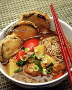 Recipe: Japanese Curry Soba Noodles,, omg i want to eat this cuz it looks sooo healthy