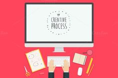 Concept for creative process by grop on Creative Market