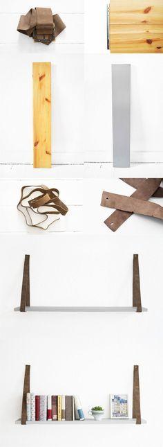 Estantería colgante DIY - sur-noch.com - DIY Hanging Shelf