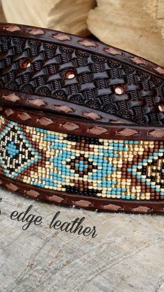 Beaded Belts, Leather Working, Tack, Friendship Bracelets, Native American, Beading, Outfits, Ideas, Jewelry