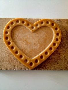 Recipe used from Sorted Food. *made by me Recipe Using, Honeycomb, Heart Shapes, Sweet Treats, Valentines Food, Recipes, Leather, Jewelry, Sweets