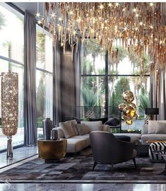 [New] The 10 Best Home Decor Ideas Today (with Pictures) - A large luxurious room with an abundance of art objects and upholstered furniture by Choose from over 100 designs for your more at Contact us for more details and bookings. Luxury Home Decor, Luxury Interior Design, Luxury Homes, Living Room Furniture, Living Room Decor, Living Rooms, Apartment Living, Outdoor Lounge, Luxury Furniture