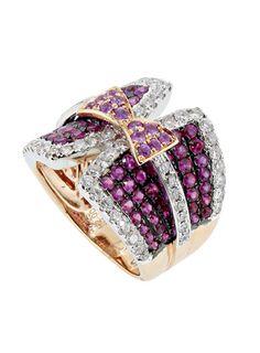 gold, diamonds, rubis & saphires ring by rubis, Lydia Dana   foto: Carlos Bessa
