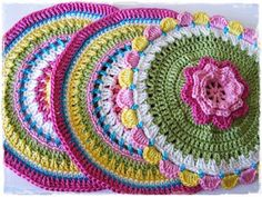 My Yarn Buy and Upcoming Projects using crochet Mandala Au Crochet, Crochet Circles, Crochet Motifs, Crochet Doilies, Crochet Flowers, Crochet Potholders, Crochet Blocks, Crochet Handbags, Crochet Purses