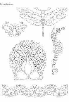 "Photo from album ""Art Nouveau Designs"" on Yandex. Motifs Art Nouveau, Design Art Nouveau, Motif Art Deco, Art Nouveau Pattern, Bijoux Art Nouveau, Art Nouveau Jewelry, Pattern Art, Pattern Design, Coloring Book Album"