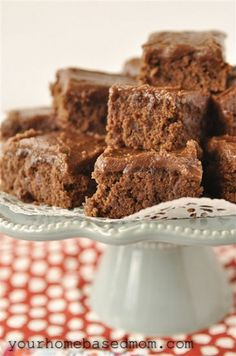 Chocolate brownies... YUM!