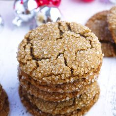These chewy cookies are packed with ginger and molasses, with a subtle sweetness to satisfy your sweet tooth.