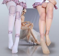 Japan Lolita Punk SD Dollfie Doll Joints Dislocation Thighs Stockings Leggings #Other #Tights