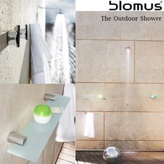 The Outdoor Shower Experience brings the indoors outside. Enhance the experience with blomus Designs.
