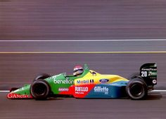 #20 Emanuele Pirro...Benetton Formula Ltd...Benetton B188...Motor Ford Cosworth DFR V8 3.5...GP Gran Bretaña 1989
