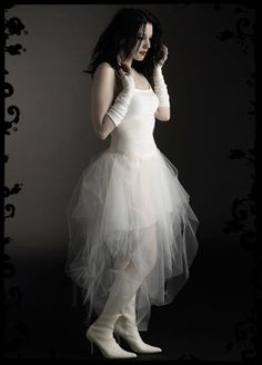 Ambroisee Fairy Wedding Dress - Elegant Romantic Gothic Couture - made to measure in your colors