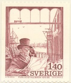 "Sweden 1kr40ö ""The Publicists' Club Centenary"", 1974. Czeslaw Slania sc."