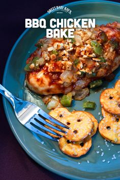 BBQ Chicken Bake | 1 cup Sweet Baby Ray's barbecue sauce, 1/2 cup dijon mustard 8 boneless, skinless chicken breasts, 2 cups broken pretzel pieces, 1/2 cup diced onion pepper to taste