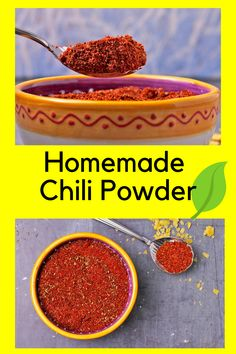 Never buy tasteless chili powder again! This easy recipe is catered to your taste and is so much more than spicy hot. You and your food deserves great flavor and it starts here. Homemade Chili, Homemade Seasonings, Cooking For Beginners, Recipes For Beginners, Chili Recipes, Vegan Recipes, Vegan Chili, Powder Recipe, Stuffed Sweet Peppers