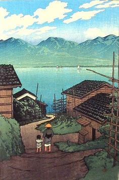 Kamoson – August 17, 1921 by Hasui