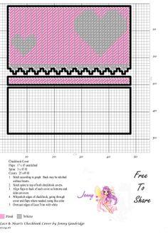 Lace & Hearts Checkbook cover