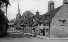 Oundle, St Osyth's Lane c.1938 « PETERBOROUGHIMAGES.CO.UK