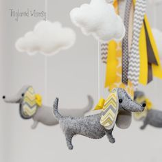 Dachshund Mobile - Doxie Mobile - Custom Mobile (not ready made) - Ships in 4-6 Weeks