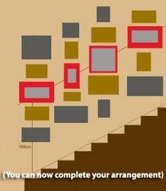Cómo colocar los cuadros en tus paredes