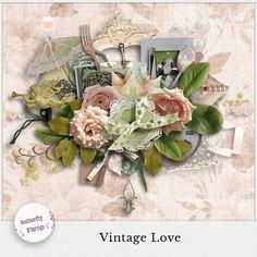 Digital Scrapbooking Studio Vintage Love by butterflyDsign - This pack contains 40 elements 7 papers PU/S4H 300 dpi  http://www.digitalscrapbookingstudio.com/store/index.php?main_page=product_info&cPath=13_453&products_id=31295