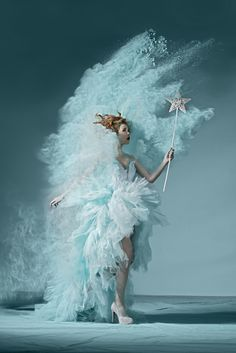 ≍ Nature's Fairy Nymphs ≍ magical elves, sprites, pixies and winged woodland faeries - winter fairy