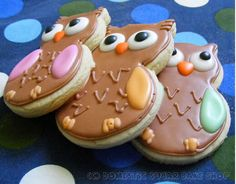 I'm back to baking. I have to admit that this break was lacking greatly in this way. I really, REALLY wanted to do some baking, but h. Cookie Crush, Owl Cookies, Always Love You, Sweet Nothings, Cookie Jars, Gingerbread Cookies, Sliders, Owls, Activities For Kids
