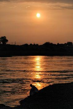 The Blue Nile at Sunset, Khartoum  النيل الأزرق عند الغروب  https://flic.kr/p/dRSYdo   #sudan #khartoum #nile