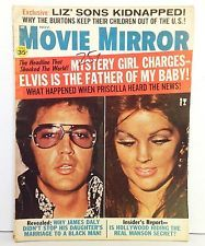 VINTAGE NOV 1970 MOVIE MIRROR ISSUE FEATURING ELVIS AND PRISCILLA PRESLEY