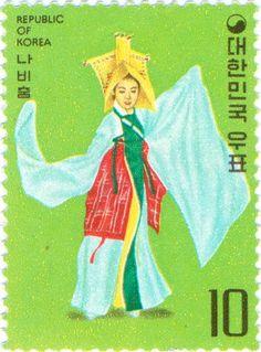 South Korea - Costumed woman dancer