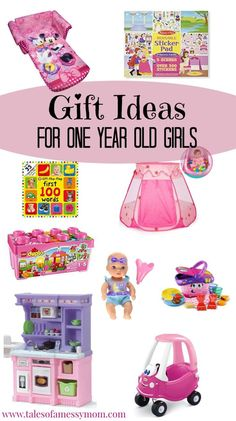Toddler gift ideas for one year old girls. Here are 11 ideas for Christmas gifts for that special little princess in your life. Complete with books, practical gifts, and open-ended toys. One Year Old Christmas Gifts, One Year Old Gift Ideas, One Year Old Baby, Toys For 1 Year Old, Christmas Time, Holiday Time, Xmas Ideas, First Birthday Gifts Girl, 1 Year Old Birthday Party