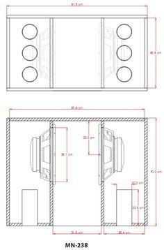 Diy Subwoofer, Subwoofer Box Design, Speaker Box Design, Horn Speakers, Diy Speakers, Built In Speakers, Woofer Speaker, Speaker Plans, Cabinet Plans