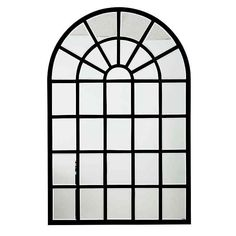 This Harlem Metal Wall Mirror is the perfect way to transition your space with a contemporary and elegant touch. Showcasing a unique grid design and matte metal finish, this mirror gives the illusion of a window on any wall. Arch Mirror, Metal Mirror, Wall Mounted Mirror, Black Mirror, Wall Mirrors, Arched Windows, Casement Windows, Grid Design, Black Bedding