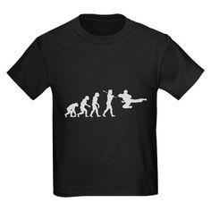 Evolve - Flying Kick Kids Dark T-Shirt