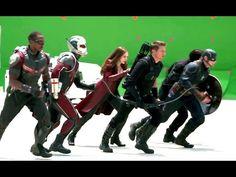 CAPTAIN AMERICA: CIVIL WAR Behind The Scenes Footage (2016) Marvel Movie HD - YouTube