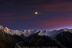 Spantik Peak (Golden Peak)7027m, Malubiting 7458m, Miar Peak 6824m & Phuparash Peak 6574 m, with Barpu Glacier & Miar Glacier, Karakoram, Hopper,Nagar, Pakistan.