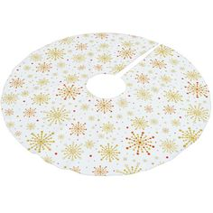 Retro Graphic Snowflake Brushed Polyester Tree Skirt #christmas #treeskirts #xmas #tree