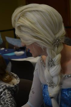 Elsa From Frozen Wig by Silver-Fyre
