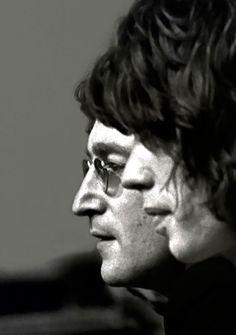 Jagger & Lennon .. In black & white ..wow