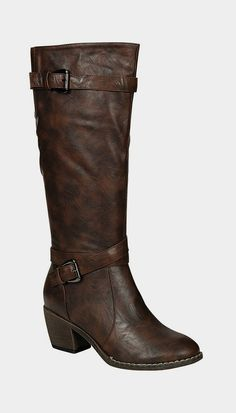 Brown Abba Buckle Boot