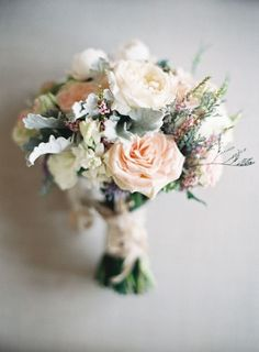 4996a09740b0 Elegant and Delicate Wedding Bouquet -- See more of the wedding here  http