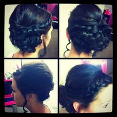 Formal hairstyle with braids