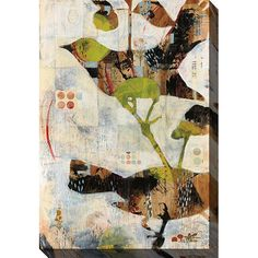 Gallery-wrapped art is a limited edition giclee on canvas. Piece comes with a certificate of authenticity. Canvas can be hung indoors or outdoors. Artist: Judy Paul Title: Outside In III Image dimensi