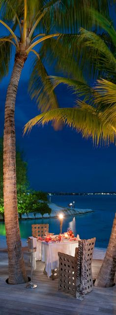 Dining on the terrace...St. Regis...Bora Bora