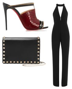 """""""Sin título #5566"""" by ceciliaamuedo ❤ liked on Polyvore featuring Halston Heritage, Christian Louboutin and Valentino"""